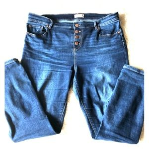 LOFT button fly jeans